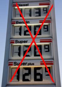 kein Benzin, Diesel oder Gas mehr